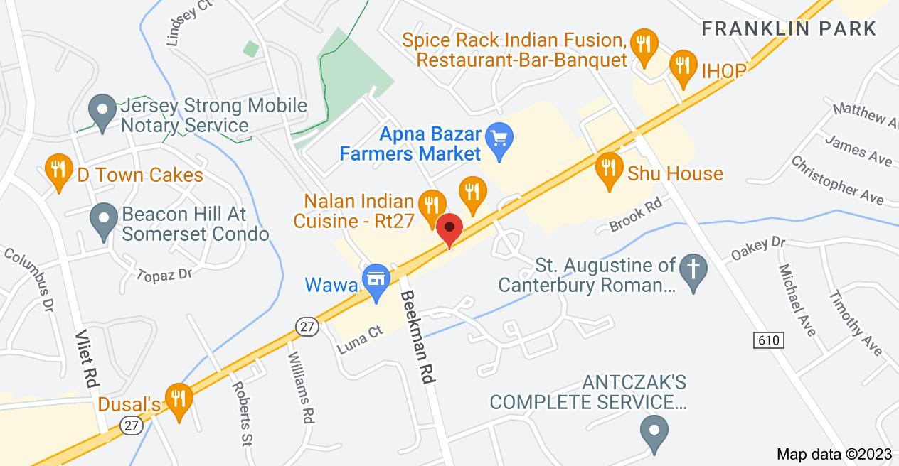 Map of 3176 NJ-27 #2B, Franklin Park, NJ 08823, psychologist, michael, lax, office, locations