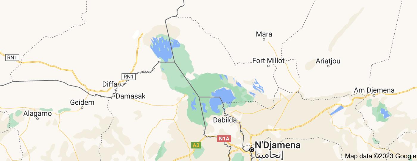 Location of Lake Chad
