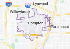 Map of Compton, California