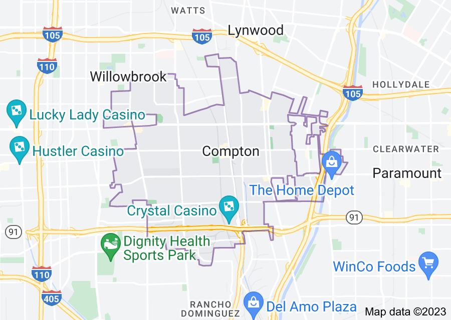 Location of Compton