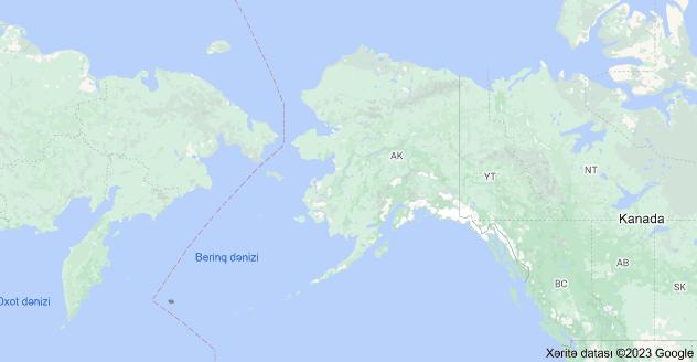 Map of Alyaska, Amerika Birləşmiş Ştatları