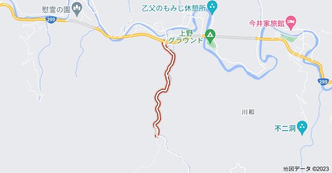 〒370-1616 群馬県多野郡上野村乙父 乙父林道の地図