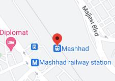 Location of Mashhad railway station
