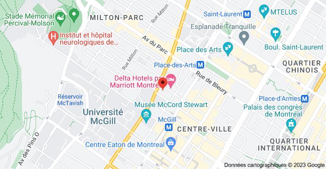 Carte de 500 Sherbrooke St W Suite 900, Montreal, QC H3A 3C6