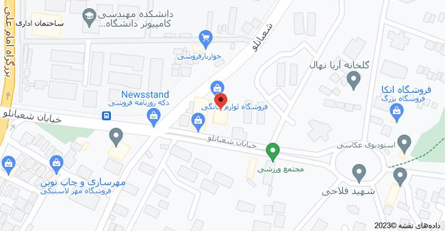 نقشه سینما، لویزان، تهران، استان تهران