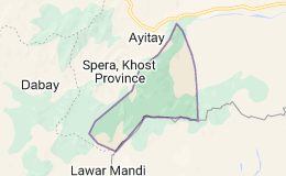 Map for Spera District Afghanistan