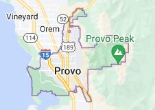 Map of Provo, Utah