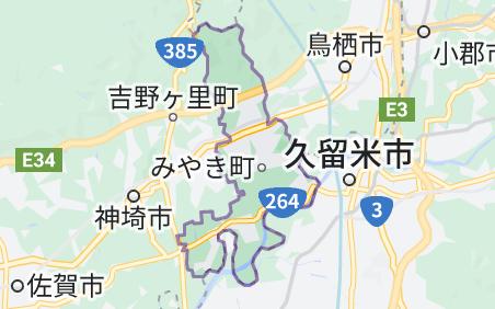 みやき町の地図