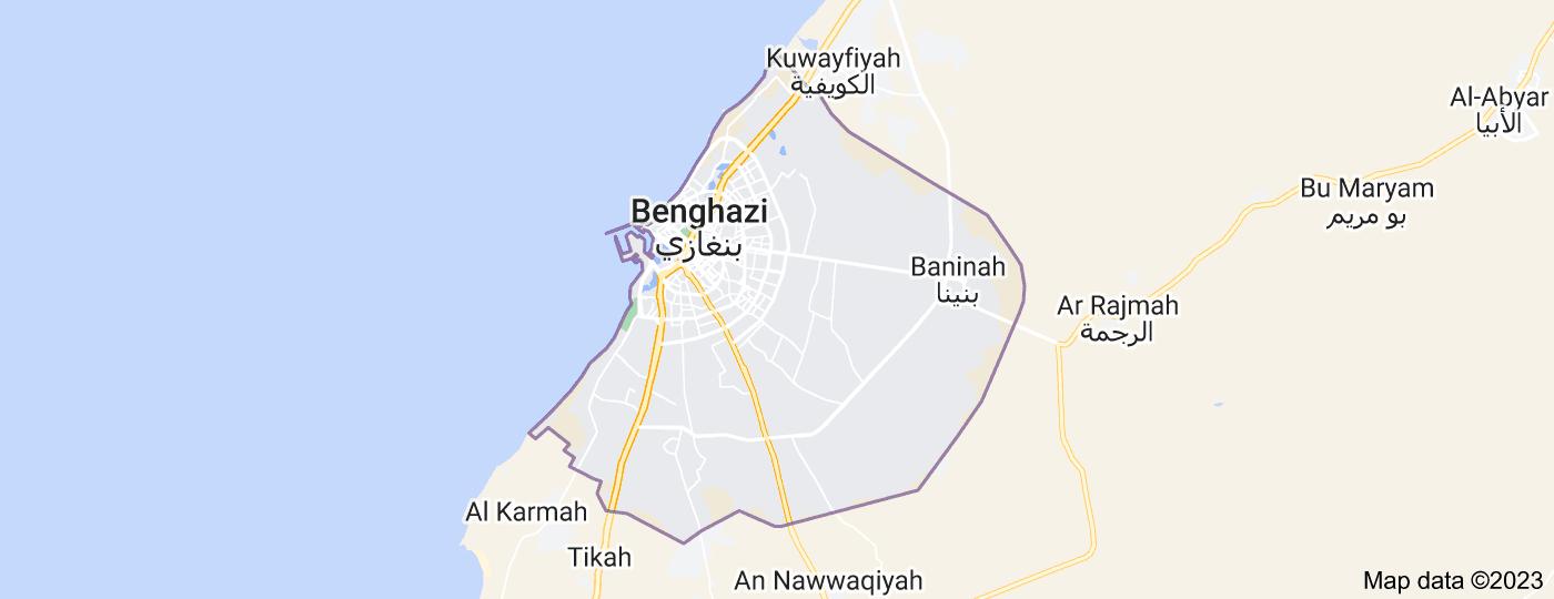 Location of Benghazi