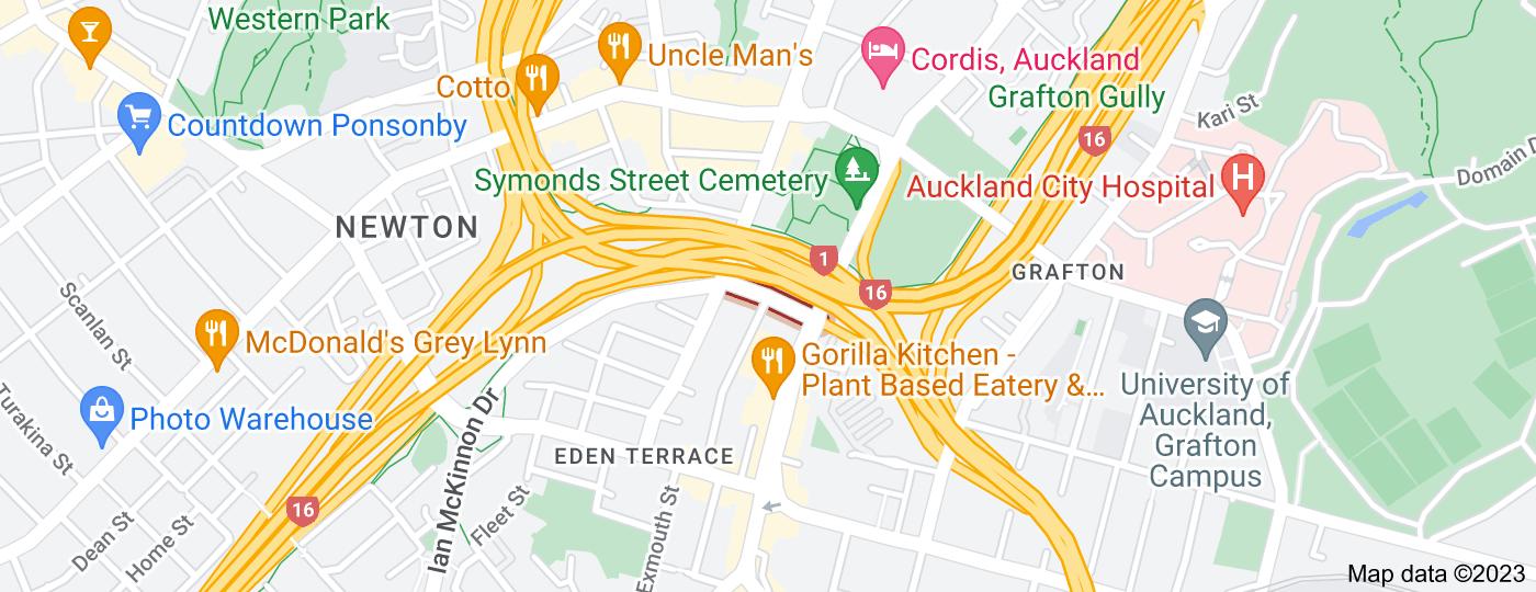Location of Alex Evans Street
