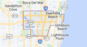 Map of Deerfield Beach