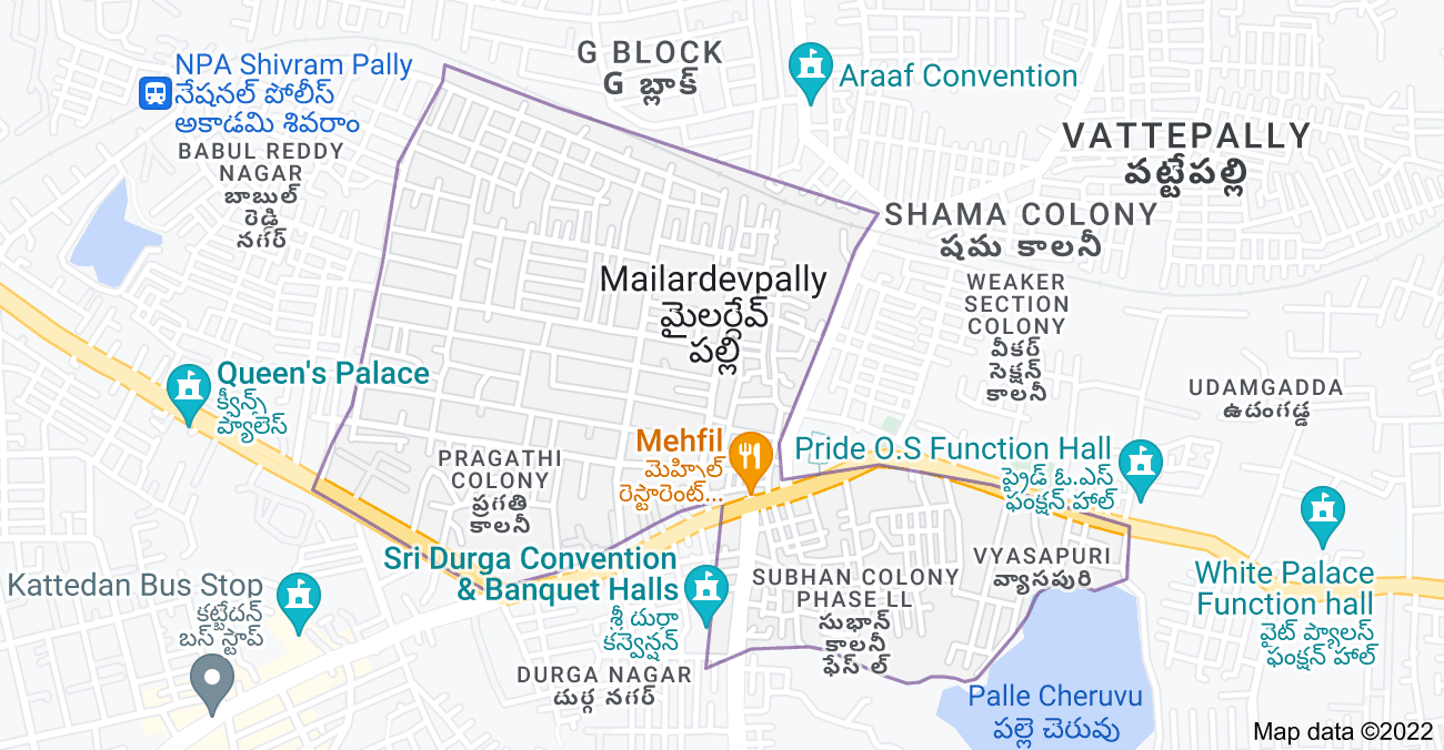 Map of Mailardevpally, Telangana 500005, India