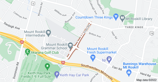 Location of Frost Road
