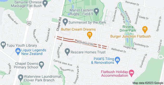Location of Broadhurst Road