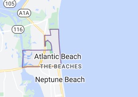 Map of Atlantic Beach, Florida