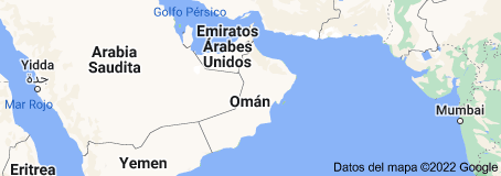 Location of Omán