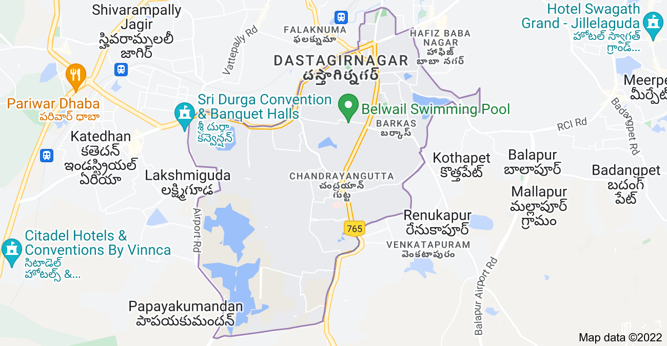 Map of Chandrayangutta, Hyderabad, Telangana, India