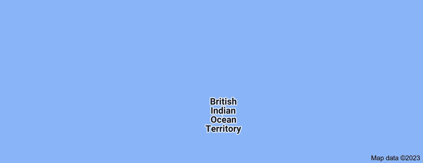 Location of Chagos Archipelago