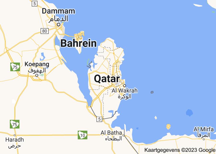 Location of Qatar