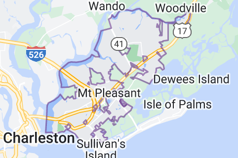 Map of Mount Pleasant, South Carolina