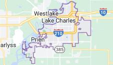 Map of Lake Charles