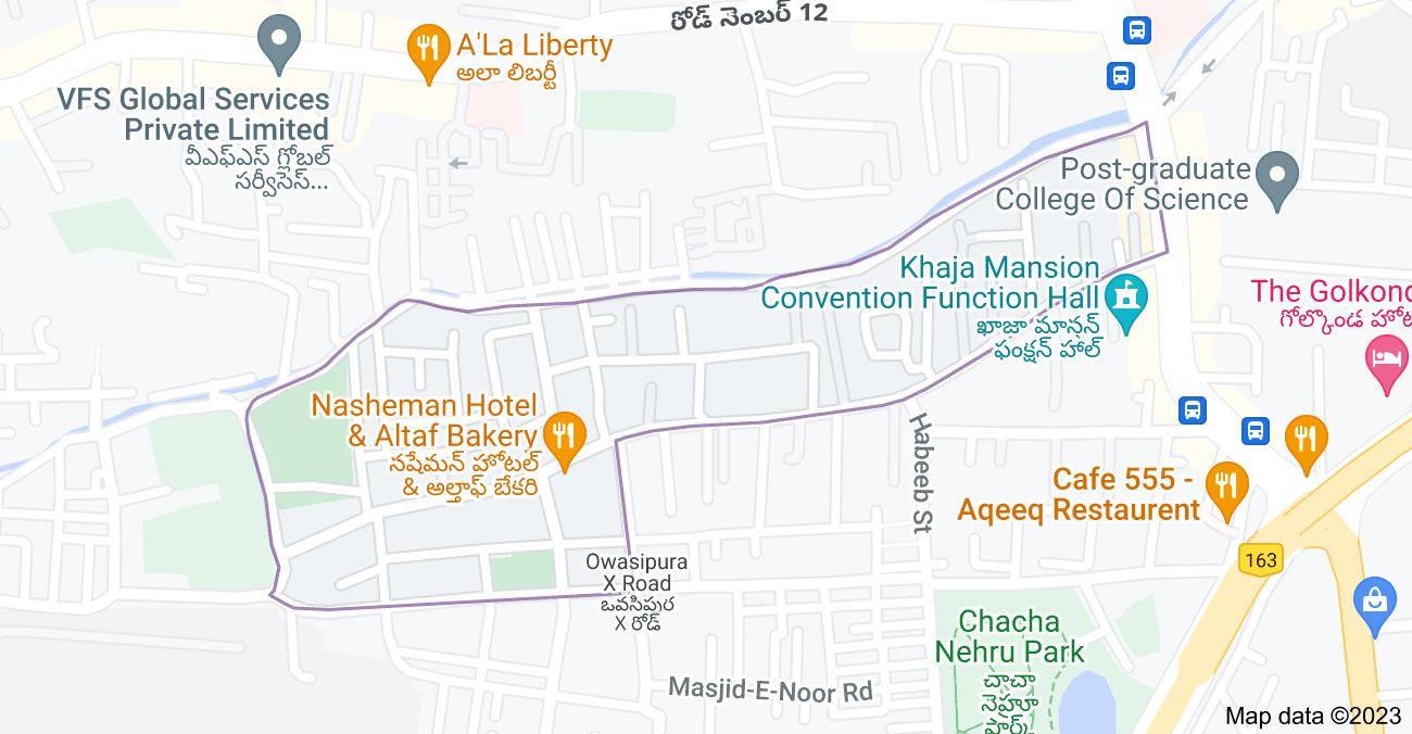 Map of Ahmed Nagar, Banjara Hills, Hyderabad, Telangana, India