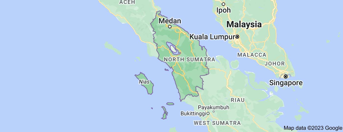Location of North Sumatra