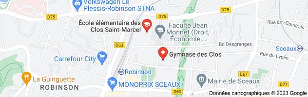gymnase des clos saint marcel sceaux: carte