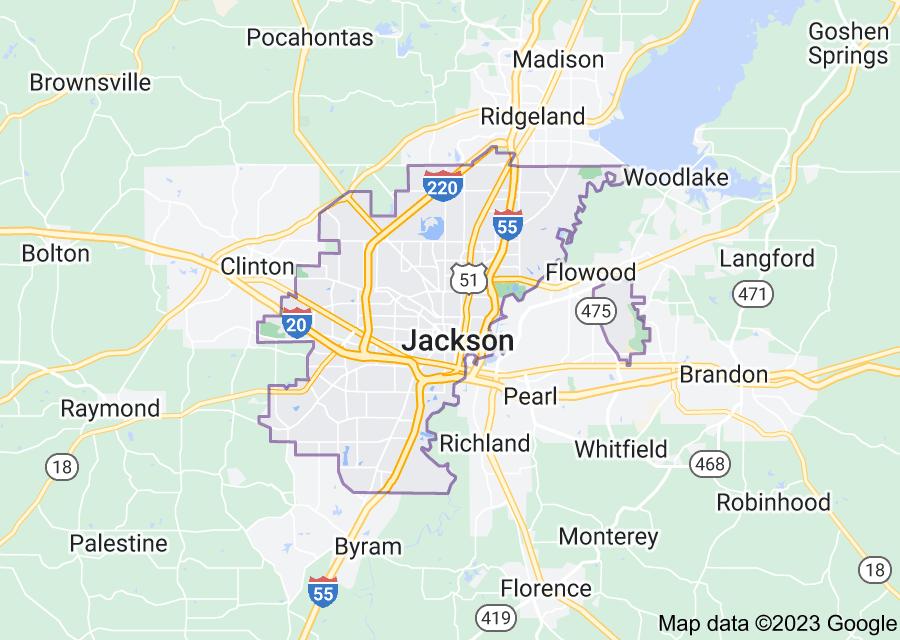 Location of Jackson