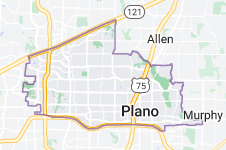Map of Plano, Texas