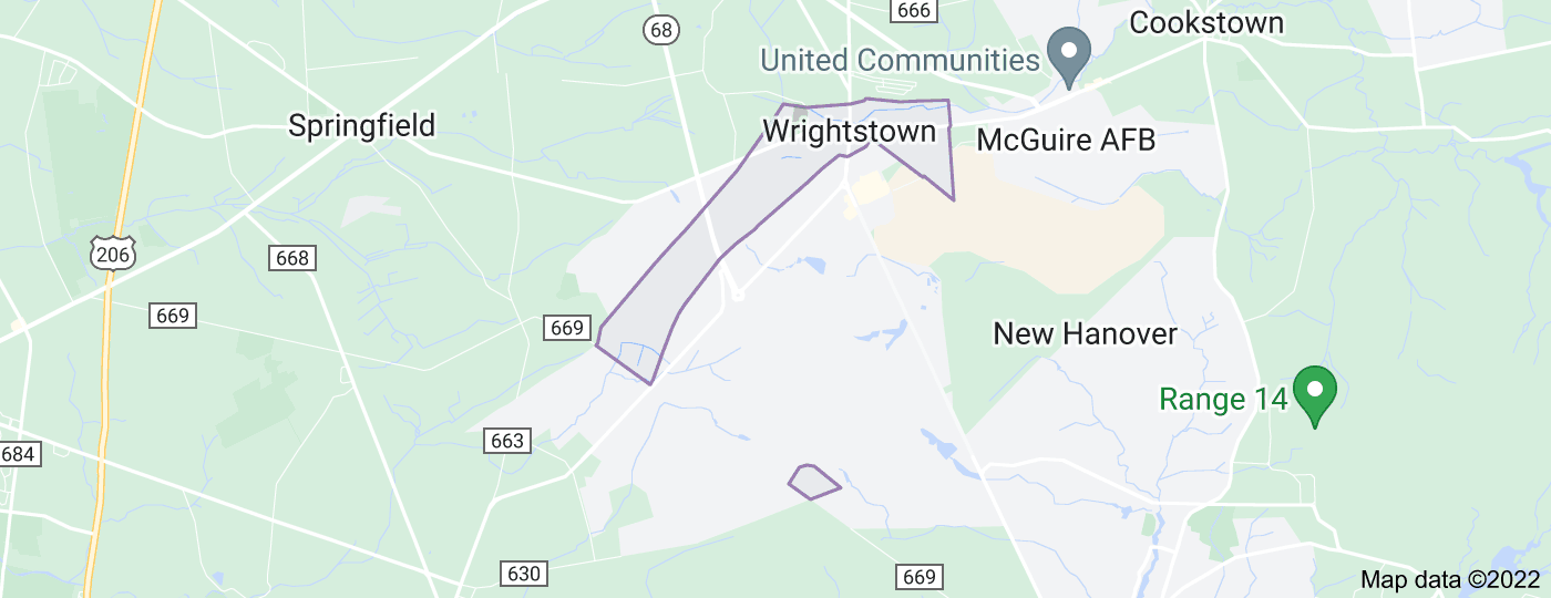 Location of Wrightstown
