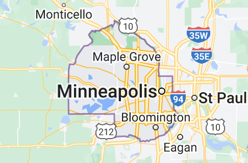 Map of Hennepin County