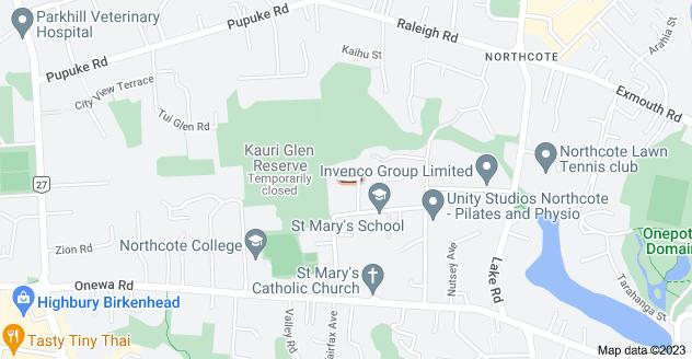 Location of Mahuta Grove