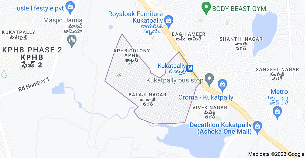 Map of Balaji Nagar, Kukatpally, Hyderabad, Telangana 500072, India