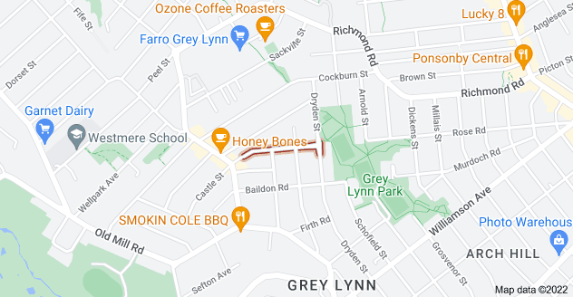 Location of Allen Road