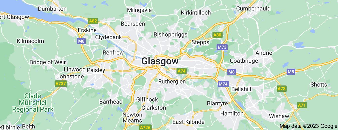 Location of Glasgow