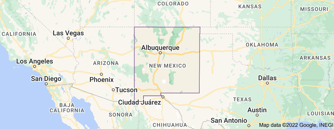 Location of New Mexico