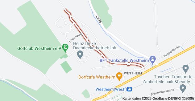 Karte von Hoppenberg, 34431 Marsberg