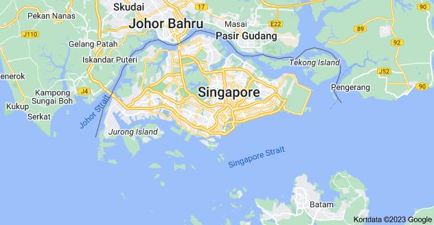 Kort over Singapore