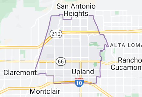 Map of Upland, California