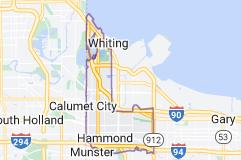 Map of Hammond, Indiana