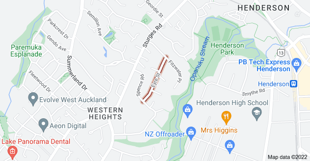 Location of Eyre Street