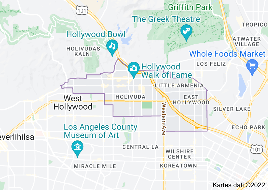 Location of Holivuda