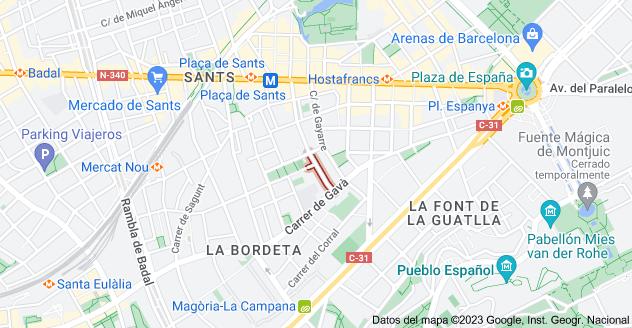Mapa de Carrer d'Alpens, 08014 Barcelona, España