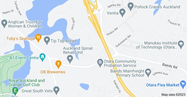Location of Laxon Avenue