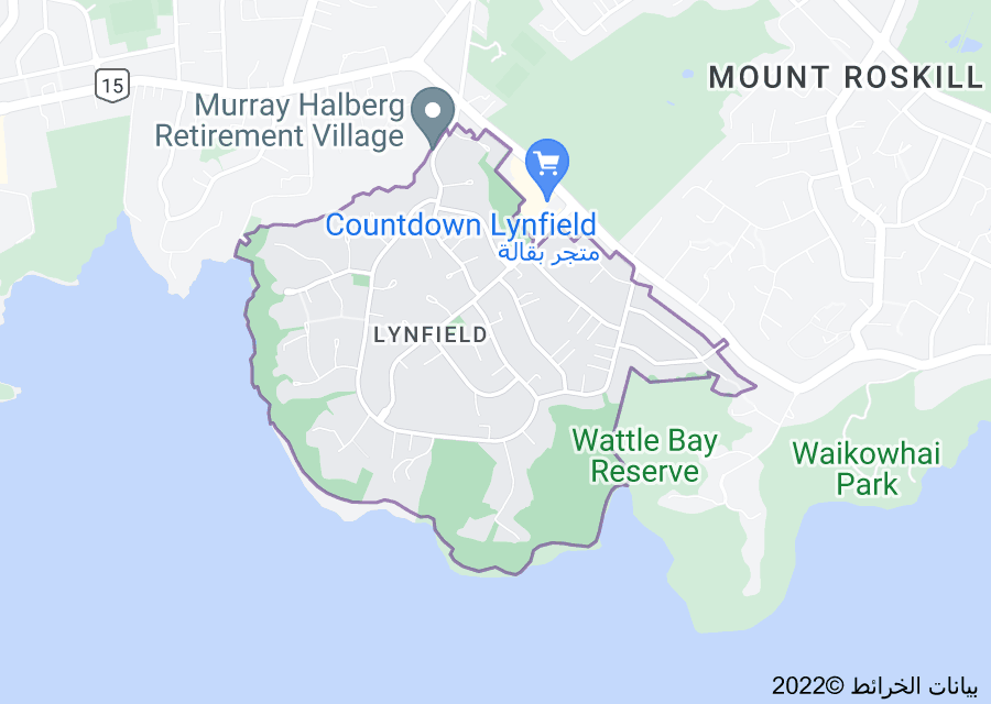 Location of Lynfield, New Zealand
