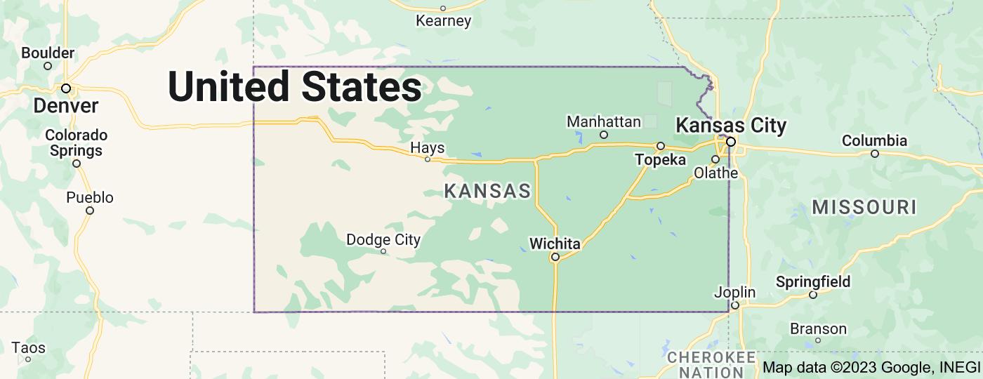 Location of Kansas