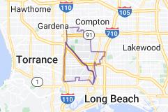 Map of Carson, California