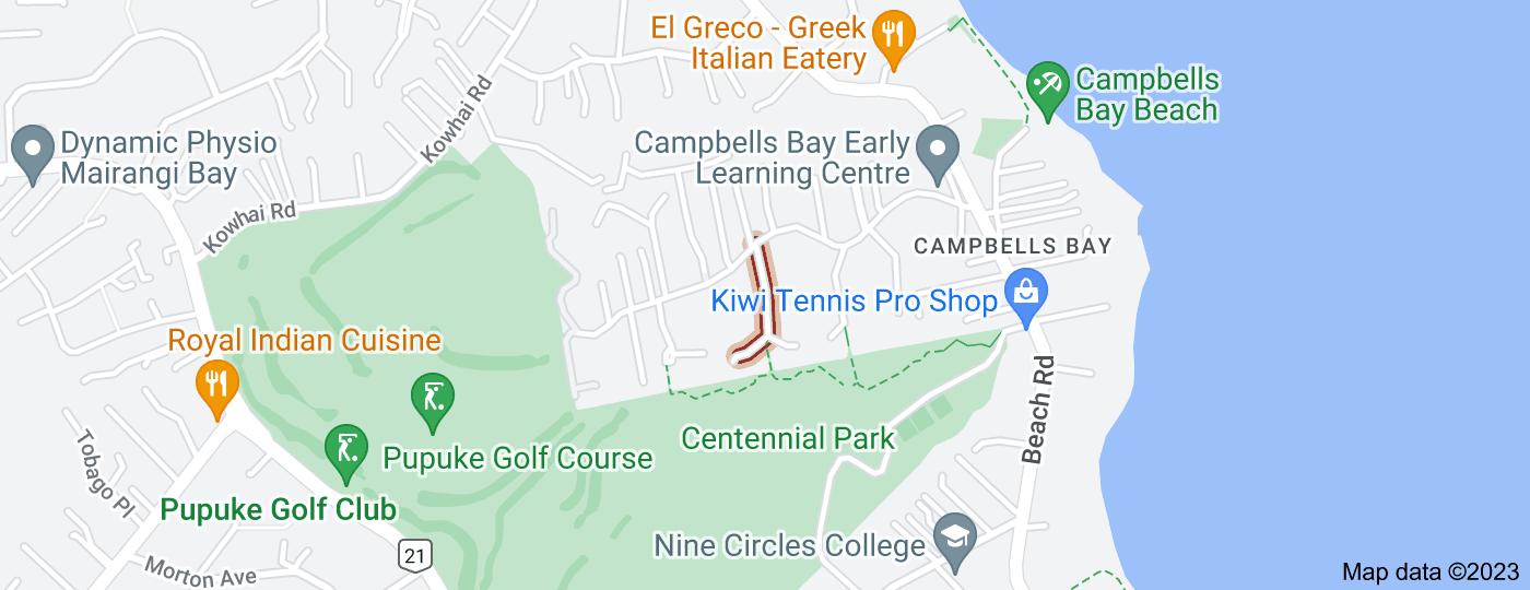 Location of Asbury Crescent