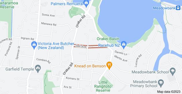 Location of Dell Avenue
